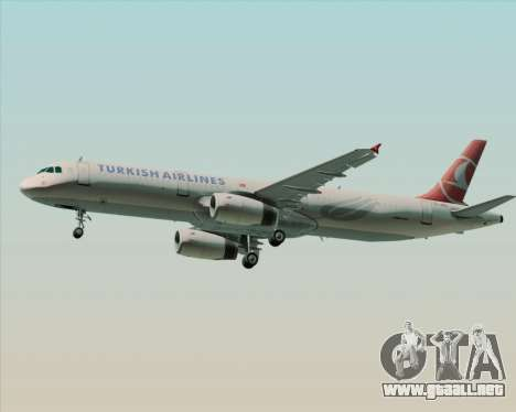Airbus A321-200 Turkish Airlines para la visión correcta GTA San Andreas