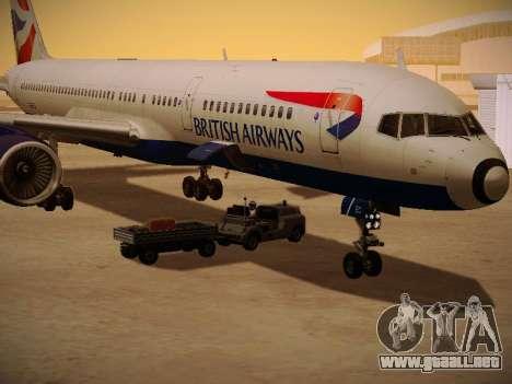 Boeing 757-236 British Airways para la vista superior GTA San Andreas