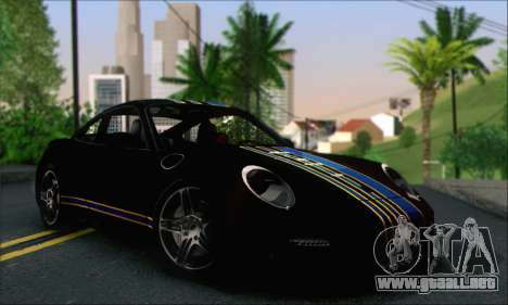 Porsche 997 Turbo Tunable para la vista superior GTA San Andreas