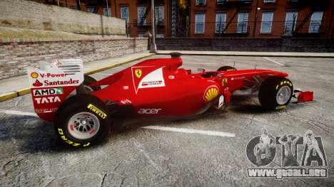 Ferrari 150 Italia Track Testing para GTA 4 left