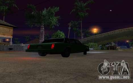 Tahoma Restyle para GTA San Andreas vista hacia atrás