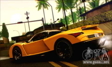 Grotti Cheetah (HQLM) para GTA San Andreas left