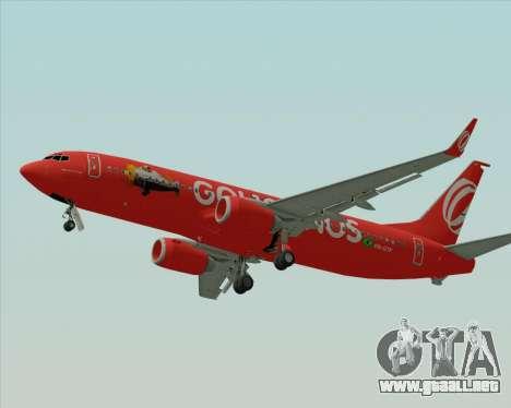 Boeing 737-800 de Gol Transportes Aéreos para la visión correcta GTA San Andreas