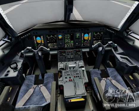 Embraer E-190 Virgin Blue para GTA San Andreas interior