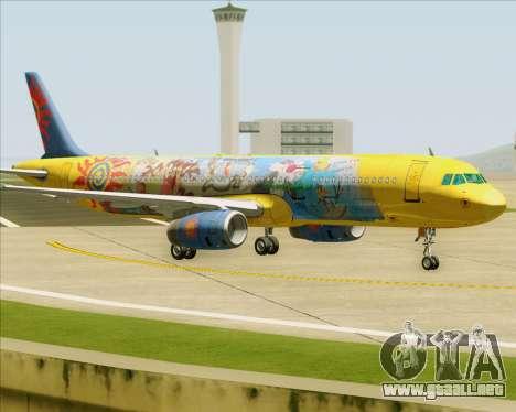 Airbus A321-200 para GTA San Andreas vista hacia atrás