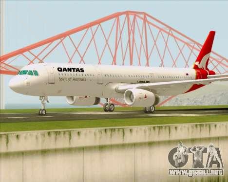Airbus A321-200 Qantas para GTA San Andreas left