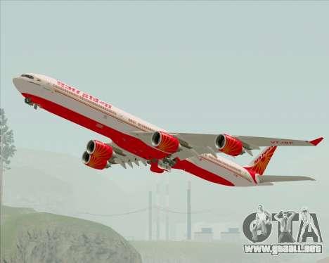 Airbus A340-600 Air India para vista lateral GTA San Andreas
