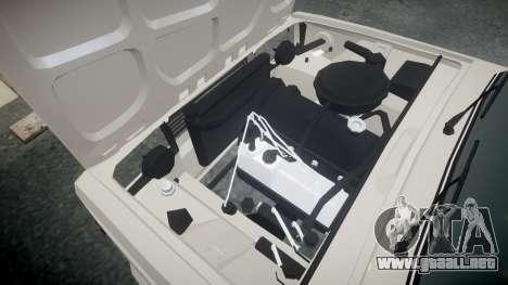 VAZ-2105 hooligan de estilo para GTA 4 vista interior