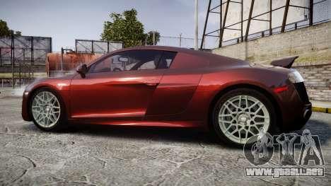 Audi R8 2010 Rotiform BLQ para GTA 4 left
