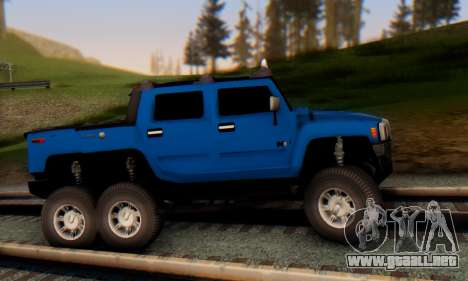 Hummer H6 Sut Pickup para GTA San Andreas vista posterior izquierda