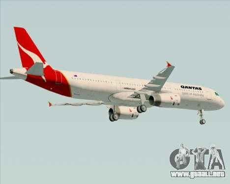 Airbus A321-200 Qantas para GTA San Andreas vista hacia atrás
