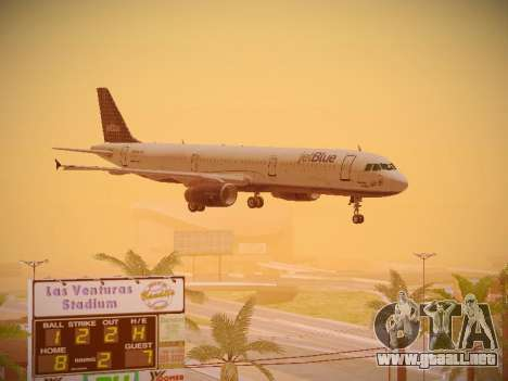 Airbus A321-232 jetBlue Woo-Hoo jetBlue para vista lateral GTA San Andreas