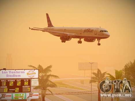 Airbus A321-232 jetBlue Blue Kid in the Town para visión interna GTA San Andreas