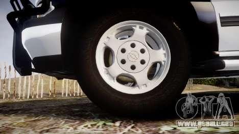Chevrolet Silverado SWAT [ELS] para GTA 4 vista hacia atrás