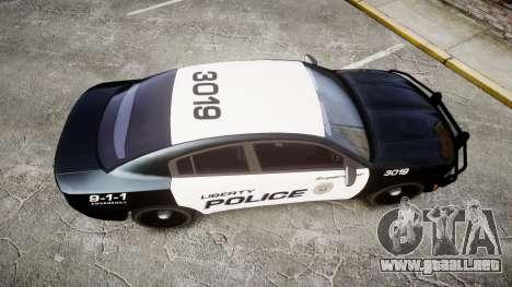 Dodge Charger 2015 LPD CHGR [ELS] para GTA 4 visión correcta