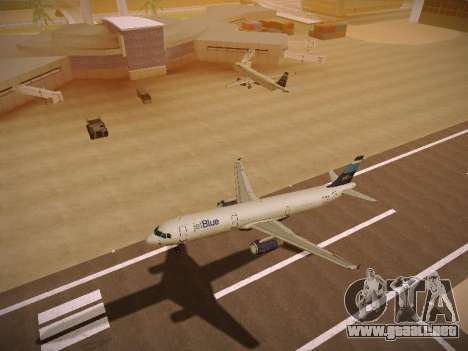 Airbus A321-232 Big Blue Bus para GTA San Andreas vista hacia atrás