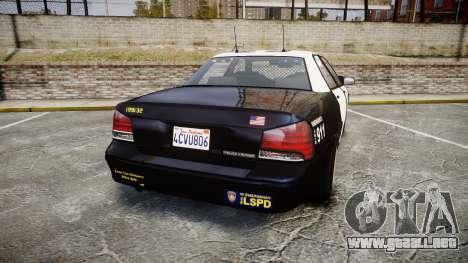 GTA V Vapid Cruiser LSP [ELS] Slicktop para GTA 4 Vista posterior izquierda