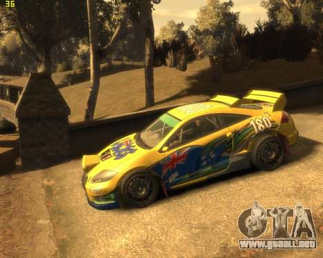 Mitsubishi Eclipse GT Rallycross para GTA 4 visión correcta