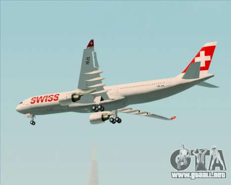 Airbus A330-300X Swiss International Air Lines para visión interna GTA San Andreas