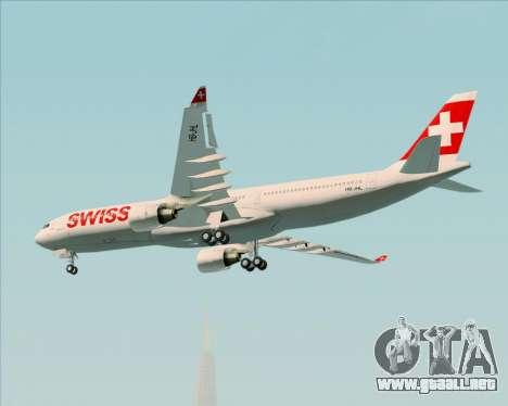 Airbus A330-300X Swiss International Air Lines para visión interna GTA San Andreas