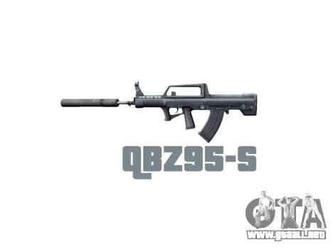 Máquina QBZ-95-S icon3 para GTA 4 tercera pantalla