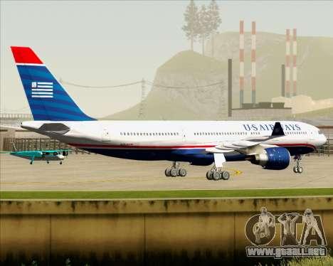 Airbus A330-200 US Airways para GTA San Andreas vista hacia atrás