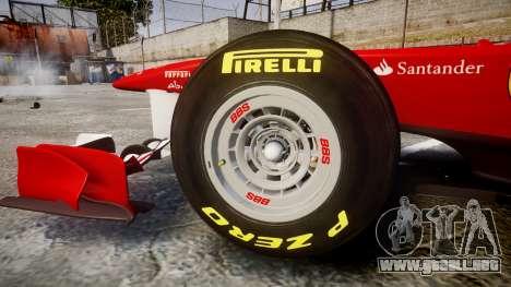 Ferrari 150 Italia Alonso para GTA 4 vista interior