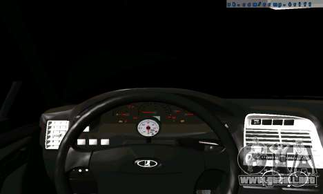 VAZ 21123 Chernysh para GTA San Andreas vista hacia atrás