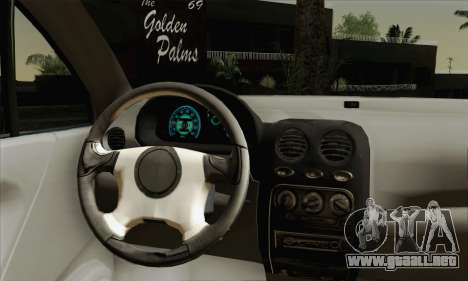 Daewoo Matiz Tuned para GTA San Andreas vista posterior izquierda