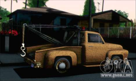 GTA 5 Towtruck Worn para GTA San Andreas left