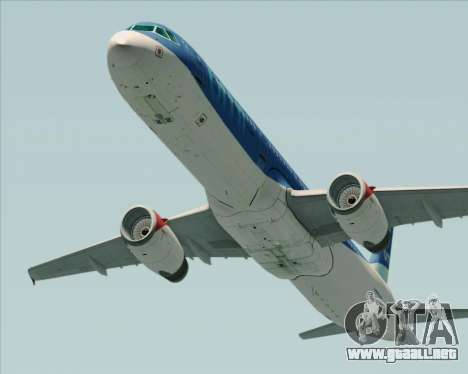 Airbus A321-200 British Midland International para GTA San Andreas vista posterior izquierda