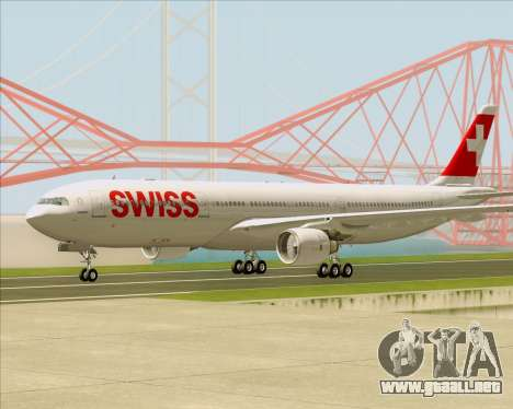 Airbus A330-300X Swiss International Air Lines para la visión correcta GTA San Andreas