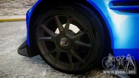 Aston Martin Vantage GTE Nico Yazawa para GTA 4 vista hacia atrás
