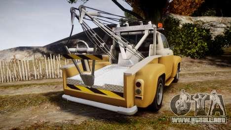 Vapid Tow Truck Jackrabbit v2 para GTA 4 Vista posterior izquierda