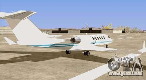 Buckingham Shamal GTA V para GTA San Andreas left