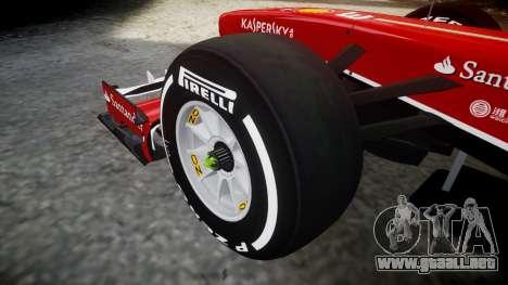 Ferrari F138 v2.0 [RIV] Alonso TMD para GTA 4 vista hacia atrás
