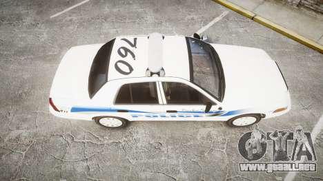 Ford Crown Victoria PS Police [ELS] para GTA 4 visión correcta