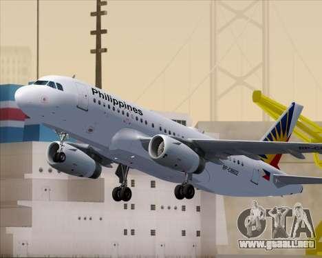 Airbus A319-112 Philippine Airlines para las ruedas de GTA San Andreas