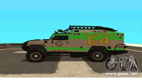 Hummer H2 Ratchet Transformers 4 para GTA San Andreas left