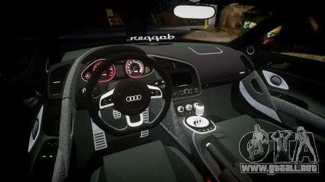 Audi R8 2010 Rotiform BLQ para GTA 4 vista interior