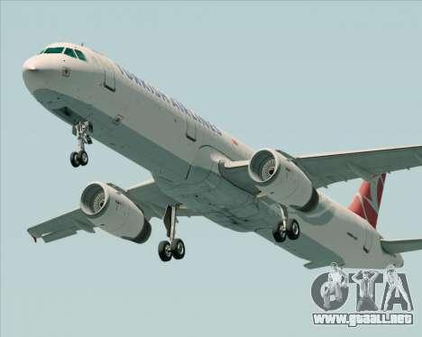 Airbus A321-200 Turkish Airlines para vista lateral GTA San Andreas