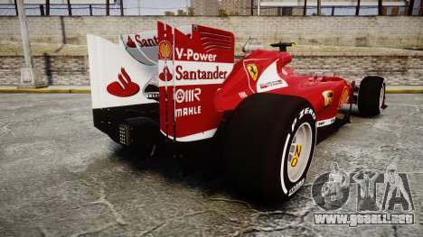 Ferrari F138 v2.0 [RIV] Massa TMD para GTA 4 Vista posterior izquierda