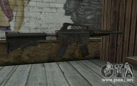 CAR-15 from Battlefield: Vietnam para GTA San Andreas segunda pantalla