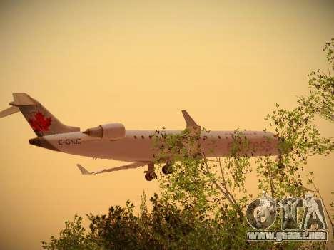 Bombardier CRJ-700 Air Canada Express para GTA San Andreas vista posterior izquierda