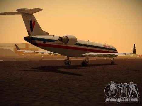 Bombardier CRJ-700 American Eagle para GTA San Andreas vista hacia atrás