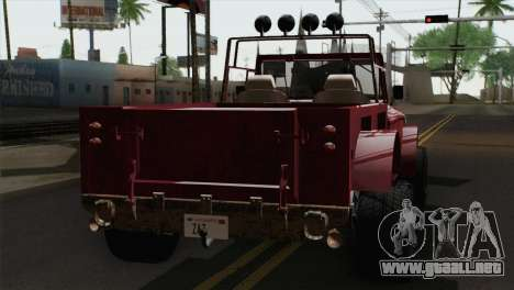 Canis Bodhi V1.0 Rusty para GTA San Andreas left