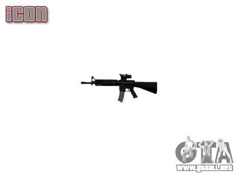 Rifle de M16A4 ACOG para GTA 4 tercera pantalla