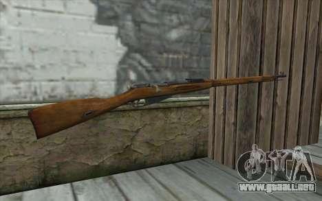 Mosin-v1 para GTA San Andreas segunda pantalla