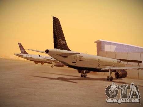 Airbus A321-232 jetBlue Woo-Hoo jetBlue para GTA San Andreas vista posterior izquierda