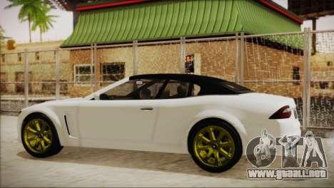 Lampadati Felon GT para GTA San Andreas vista posterior izquierda